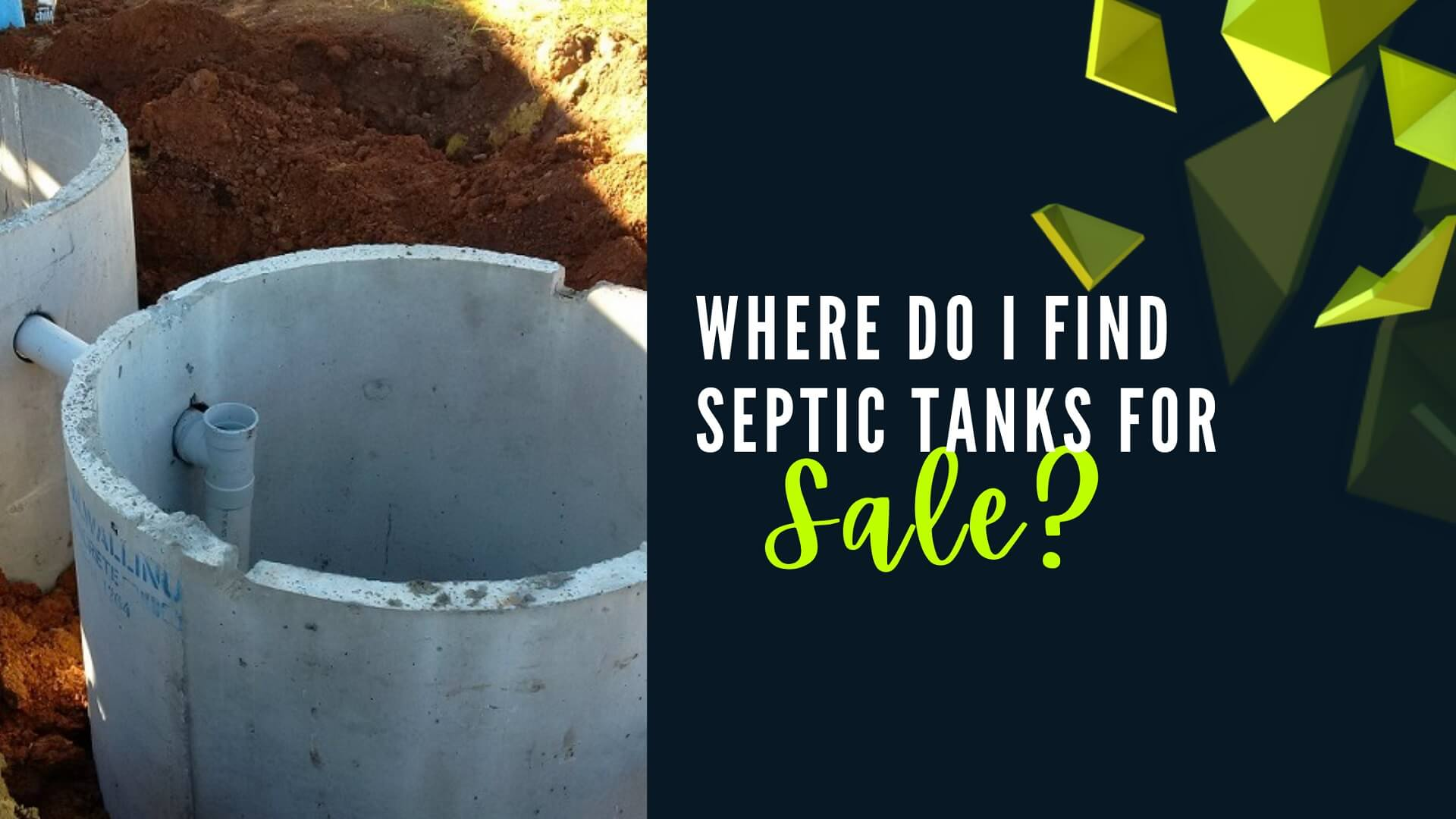 Where do I find septic tanks for sale?